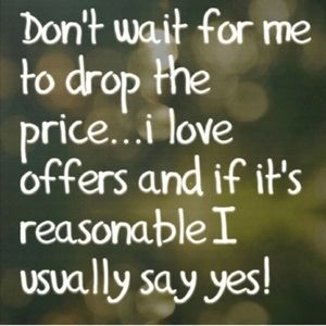 Most of my sales are offers!